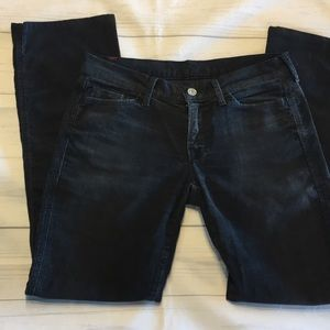 Pants - 7FAM 7 for All Mankind Black Corduroy Skinny Jeans